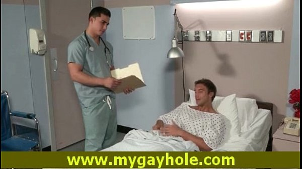 Gay doctor gives deep throat to his patient