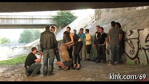 Tourist couples doing sex in public
