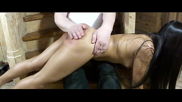 Teen spanking on the ladder